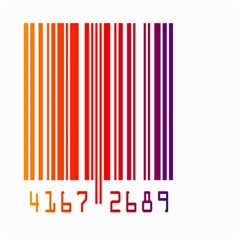 Colorful Gradient Barcode Small Garden Flag (Two Sides)