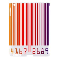 Colorful Gradient Barcode Apple iPad 3/4 Hardshell Case (Compatible with Smart Cover)