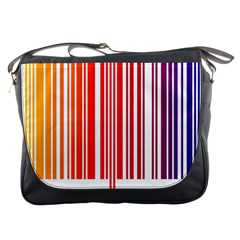 Colorful Gradient Barcode Messenger Bags