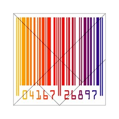 Colorful Gradient Barcode Acrylic Tangram Puzzle (6  x 6 )