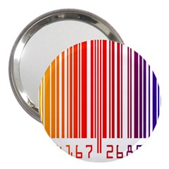 Colorful Gradient Barcode 3  Handbag Mirrors