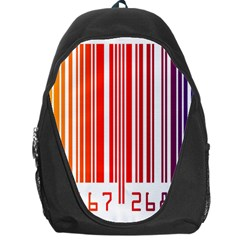 Colorful Gradient Barcode Backpack Bag