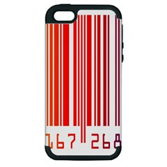 Colorful Gradient Barcode Apple iPhone 5 Hardshell Case (PC+Silicone)