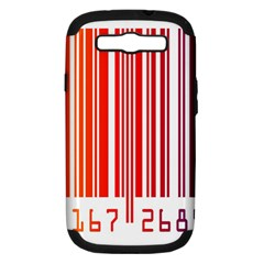 Colorful Gradient Barcode Samsung Galaxy S III Hardshell Case (PC+Silicone)