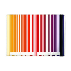 Colorful Gradient Barcode Apple iPad Mini Flip Case