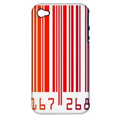 Colorful Gradient Barcode Apple iPhone 4/4S Hardshell Case (PC+Silicone)