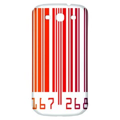 Colorful Gradient Barcode Samsung Galaxy S3 S III Classic Hardshell Back Case