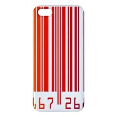Colorful Gradient Barcode Apple iPhone 5 Premium Hardshell Case