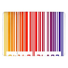 Colorful Gradient Barcode Samsung Galaxy Tab 10.1  P7500 Flip Case