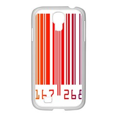 Colorful Gradient Barcode Samsung GALAXY S4 I9500/ I9505 Case (White)