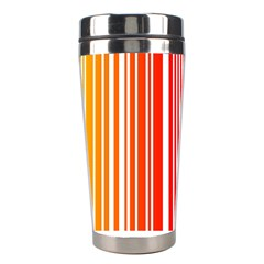 Colorful Gradient Barcode Stainless Steel Travel Tumblers