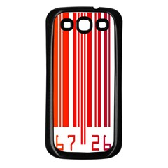 Colorful Gradient Barcode Samsung Galaxy S3 Back Case (Black)