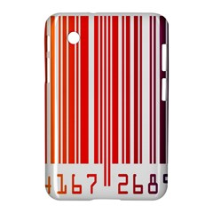 Colorful Gradient Barcode Samsung Galaxy Tab 2 (7 ) P3100 Hardshell Case
