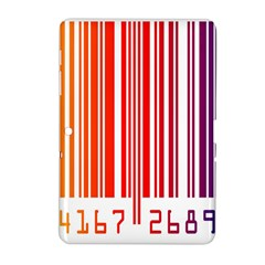 Colorful Gradient Barcode Samsung Galaxy Tab 2 (10.1 ) P5100 Hardshell Case