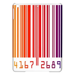 Colorful Gradient Barcode iPad Air Hardshell Cases
