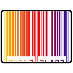 Colorful Gradient Barcode Double Sided Fleece Blanket (Large)