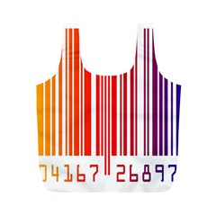 Colorful Gradient Barcode Full Print Recycle Bags (M)
