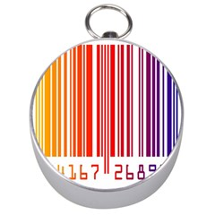 Colorful Gradient Barcode Silver Compasses