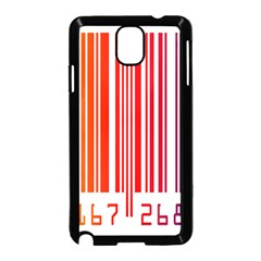 Colorful Gradient Barcode Samsung Galaxy Note 3 Neo Hardshell Case (Black)