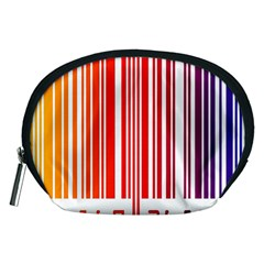 Colorful Gradient Barcode Accessory Pouches (Medium)