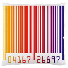 Colorful Gradient Barcode Large Flano Cushion Case (two Sides)