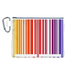 Colorful Gradient Barcode Canvas Cosmetic Bag (L)
