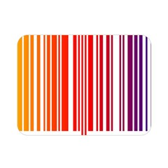 Colorful Gradient Barcode Double Sided Flano Blanket (Mini)