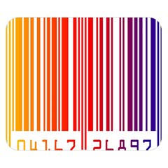 Colorful Gradient Barcode Double Sided Flano Blanket (Small)