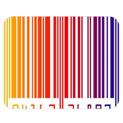 Colorful Gradient Barcode Double Sided Flano Blanket (Medium)