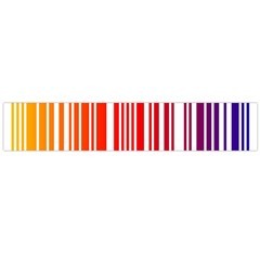 Colorful Gradient Barcode Flano Scarf (large)