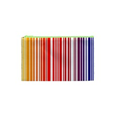 Colorful Gradient Barcode Cosmetic Bag (xs)