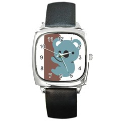 Animal Koala Square Metal Watch