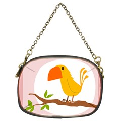 Yellow Bird Tweet Chain Purses (two Sides)