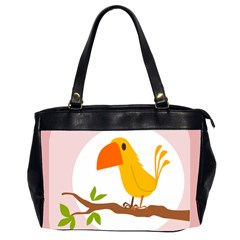Yellow Bird Tweet Office Handbags (2 Sides)
