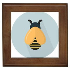 Animals Bee Wasp Black Yellow Fly Framed Tiles