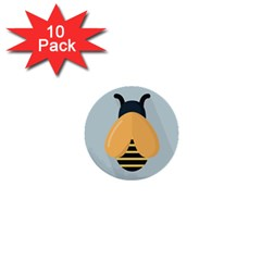 Animals Bee Wasp Black Yellow Fly 1  Mini Buttons (10 Pack)