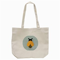 Animals Bee Wasp Black Yellow Fly Tote Bag (cream)