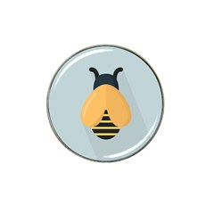 Animals Bee Wasp Black Yellow Fly Hat Clip Ball Marker (10 Pack)
