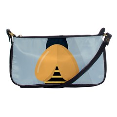 Animals Bee Wasp Black Yellow Fly Shoulder Clutch Bags
