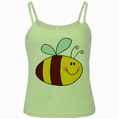 Animals Bee Wasp Smile Face Green Spaghetti Tank