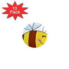 Animals Bee Wasp Smile Face 1  Mini Magnet (10 Pack)