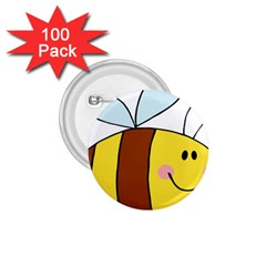 Animals Bee Wasp Smile Face 1 75  Buttons (100 Pack)