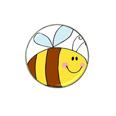 Animals Bee Wasp Smile Face Hat Clip Ball Marker (4 Pack)