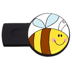 Animals Bee Wasp Smile Face Usb Flash Drive Round (4 Gb)