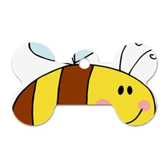 Animals Bee Wasp Smile Face Dog Tag Bone (Two Sides)