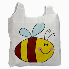 Animals Bee Wasp Smile Face Recycle Bag (two Side)