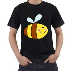 Animals Bee Wasp Smile Face Men s T Shirt (black)