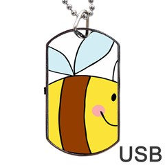 Animals Bee Wasp Smile Face Dog Tag USB Flash (Two Sides)