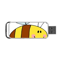 Animals Bee Wasp Smile Face Portable USB Flash (One Side)