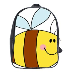Animals Bee Wasp Smile Face School Bags (xl)